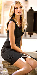Классическое чёрное платье H&M и розовая юбка из Германии!
